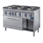 Cucina a fiamma libera con forno 6 fuochi
