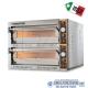 Forno elettrico per pizza 2 camere da cm.72x72x14H(x2)