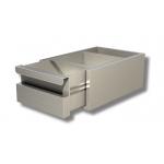 Cassetto opzionale in acciaio inox