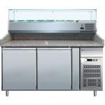 Banco refrigerato ventilato pizzeria profondità mm.800
