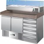Banco refrigerato pizzeria refrigerazione statica + cassettiera