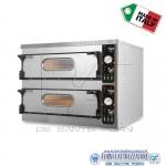 Forno elettrico per pizza 2 camere cm.72x108x14H(x2)