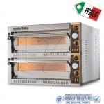 Forno elettrico per pizza 2 camere da cm.108x72x14H(x2)