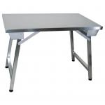 Tavolo pieghevole da lavoro in acciaio inox prof.700mm