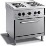 Cucina elettrica da banco a 4 piastre con forno