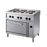 Cucina elettrica da banco a 6 piastre con forno