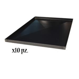 Teglia in lamiera blu 60x40x2H c/diagonale (10 Pezzi)