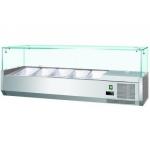 Vetrina refrigerata per pizzeria capacità 4 vaschette Gn1/3 + 1 Gn1/2