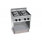 Cucina a gas 4 fuochi su mobile a giorno