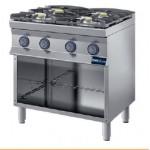 Cucina a gas 4 fuochi prof.700
