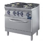 Cucina a fiamma libera con forno 4 fuochi