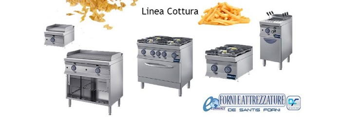 cucine modulari friggitrici fry-top cuocipasta serie 600/700/900
