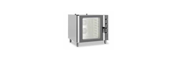 Forni termoventilati a convenzione con umidificatore per teglie euronorm 60x40.